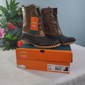 NWT The Original Duck Boot by Sporto Tan/Brown